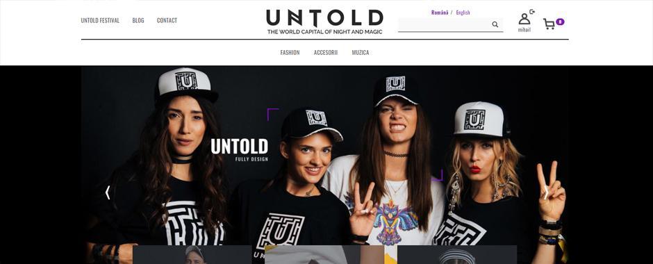 Siteul untold.shop a fost lansat!