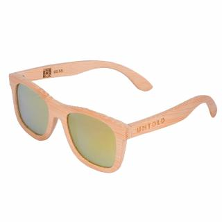 "Sunglasses made of natural bamboo, polarized ""Gold Wayfare"" UNTOLD"
