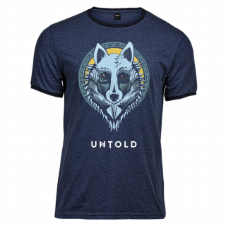 Tricou UNTOLD Wolf Tribe Navy barbat