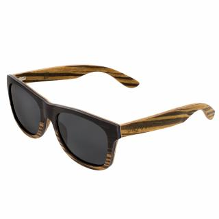 "Ochelari din lemn natural Black Walnut & Zebra polarizati - UNTOLD ""Forest Dream"""