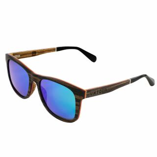 "Hand made natural ebony & zebra wood, Revo Green polarized sunglasses - UNTOLD's ""Gentlemen's Realm"""