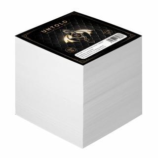 Cub notite alb, dimensiune 9 x 9 cm, 700 file, motiv Untold