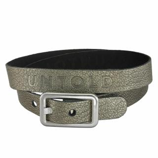 Double layer leather bracelet with zamak buckle