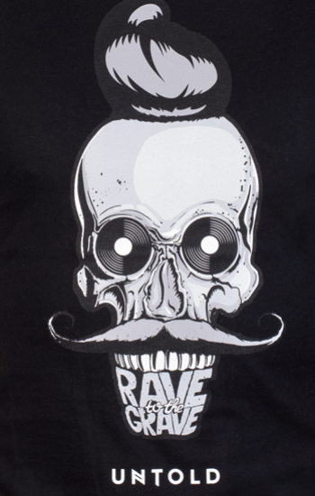 Rave to the grave - Black & White